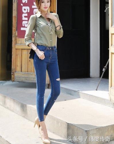 时装搭配牛仔裤舒适搭配能够完美衬托你的腿型 时尚 第1张